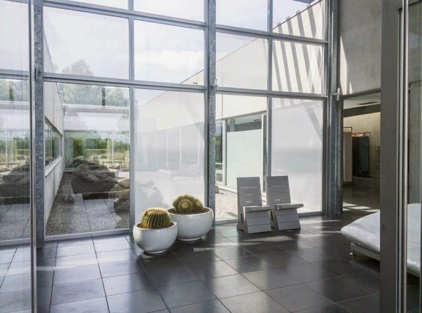 transparente Stoffe Fenster