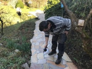 Reinigung Steinbelag