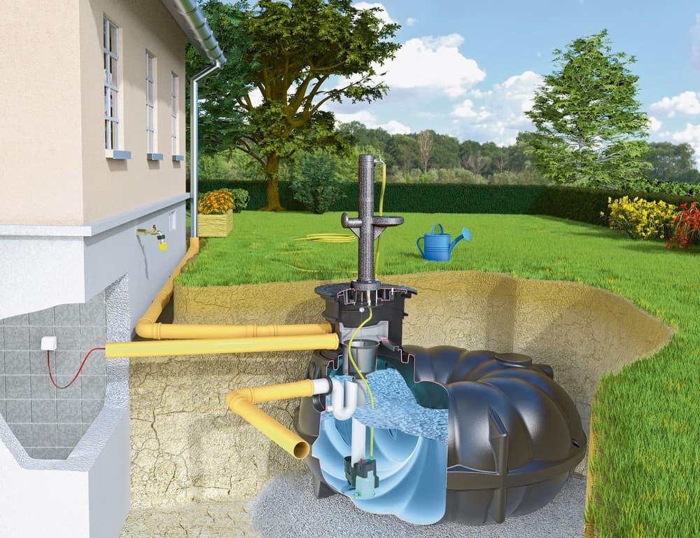Bewässerung Mit Regenwasser Lässt Den Garten Aufblühen Baufux