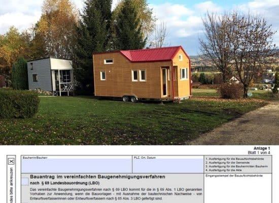 Tiny House on Wheels +++ Service für die Stellplatzgenehmigung oder Baugenehmigung