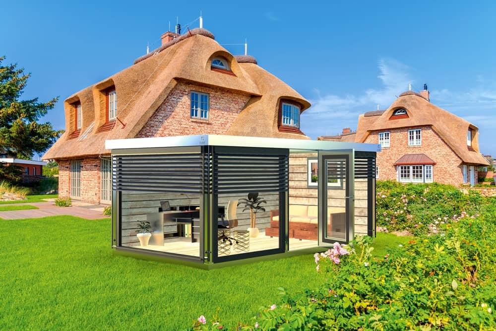 Modulhaus im Garten